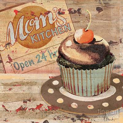 Cupcake Painting - Cupcake Baking Sign I by Paul Brent