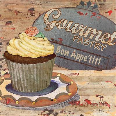 Wall Art - Painting - Cupcake Baking Sign Iv by Paul Brent