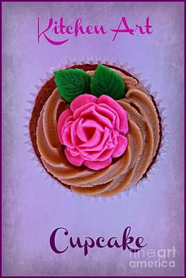 Frosted Cupcakes Digital Art - Cupcake by Clare Bevan