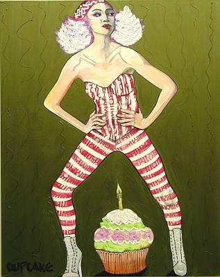 Variegated Painting - Cupcake by Darlene Graeser