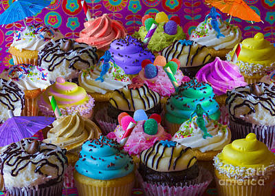 Raspberry Digital Art - Cupcake Galore by Aimee Stewart