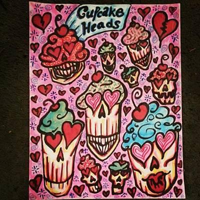 Cupcake Heads Art Print by Stephanie Bucaria