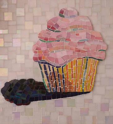 Glass Art - Cupcake by Julie Mazzoni