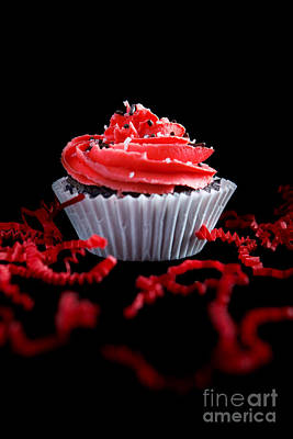 Photograph - Cupcake With Red Icing by Cindy Singleton