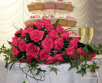 Photograph - Cupcakes And Roses by Terri Waters