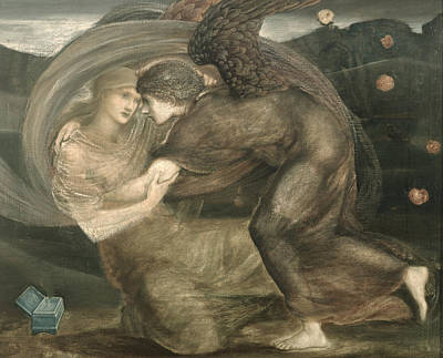 Boxes Painting - Cupid And Psyche by Sir Edward Coley Burne-Jones