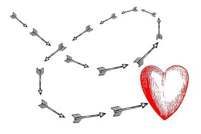 Valentines Day Digital Art - Cupids Arrow by Chastity Hoff