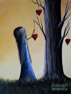 Pop Surrealism Painting - Cupid's Tree By Shawna Erback by Shawna Erback
