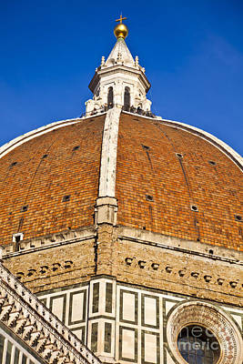 Cupola On Florence Duomo Art Print