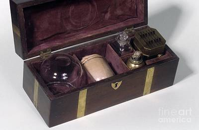 Cupping Set, 19th Century Art Print by Science Photo Library