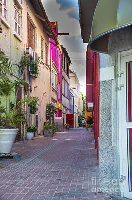 Photograph - Curacao Alley by Louise Magno