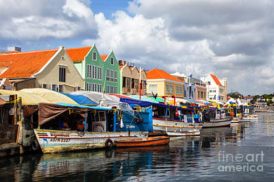 Photograph - Curacao Floating Market by Rene Triay Photography