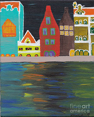 Curacao Nights Art Print by Melissa Vijay Bharwani