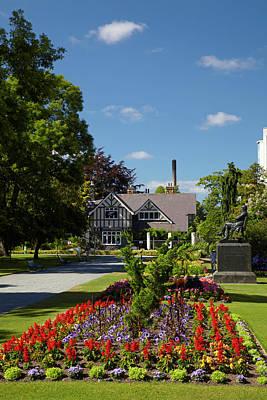 Curator's House And Botanic Gardens Art Print by David Wall