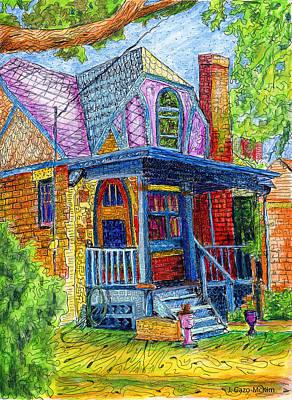 House Plant Drawing - Curb Appeal by Jo-Anne Gazo-McKim