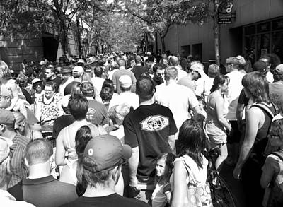 Photograph - Curb Cup Crowd by Tarey Potter