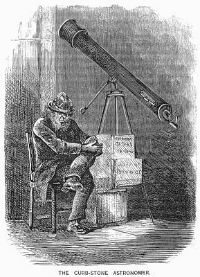 Astronomers Painting - Curbstone Astronomer, 1872 by Granger