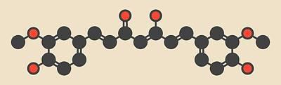 Turmeric Photograph - Curcumin Turmeric Spice Molecule by Molekuul