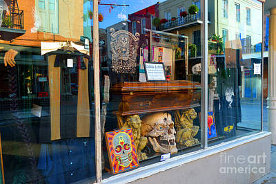 New Orleans Photograph - Curiosities In The Window by Alys Caviness-Gober