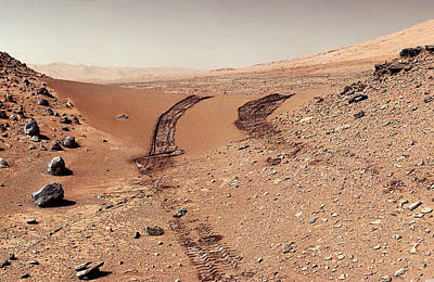 Photograph - Curiosity Tracks Under The Sun In Mars by Weston Westmoreland