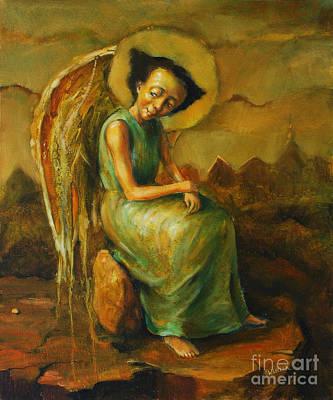 Curious Angel Original by Michal Kwarciak