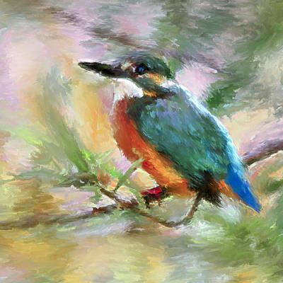 Pets Art Digital Art - Curious Bird 2 by Yury Malkov