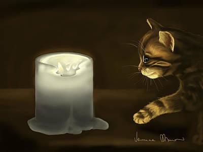 Curious Cat Print by Veronica Minozzi