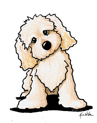 Puppy Drawing - Curious Cute by Kim Niles