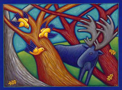 Curious Encounters Original by Mary Anne Nagy