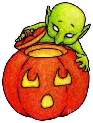 Pastel - Curious Goblin by Samantha Geernaert