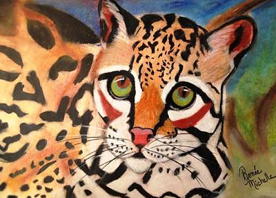 Pastel - Curious Ocelot by Renee Michelle Wenker