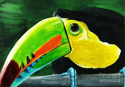 Curious Toucan Art Print by Laura Charlesworth