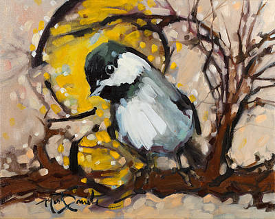 Avian Painting - Curiouser And Curiouser by Mark Daniels