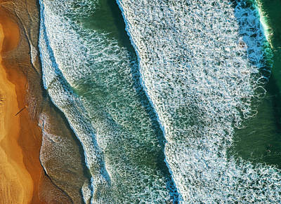 Gradient Photograph - Curl Curl Aerial by Ignacio Palacios