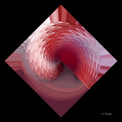 Digital Art - Curl I by rd Erickson
