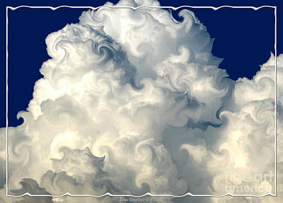 Photograph - Curlicued Cotton Candy Cloud by Rose Santuci-Sofranko