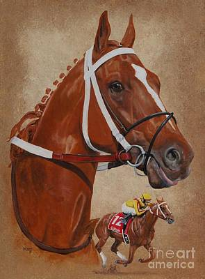 Painting - Curlin by Pat DeLong