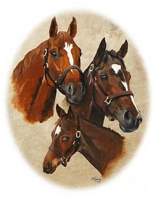 Painting - Curlin  Rachel Alexandra Jess's Dream by Pat DeLong