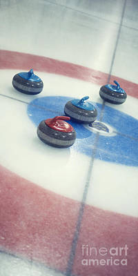 Curling Stones Art Print