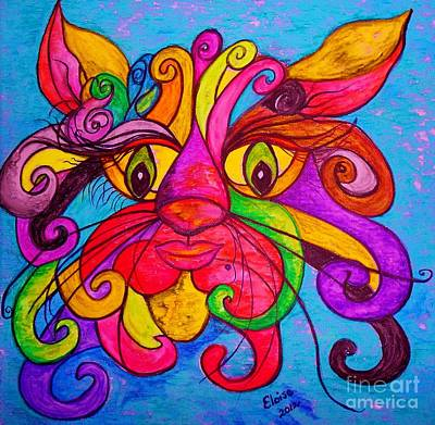 Fairies Painting - Curly Cat Love by Eloise Schneider
