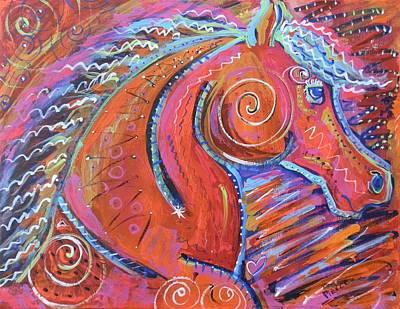 Curly Horse Art Print by Amanda Pierce