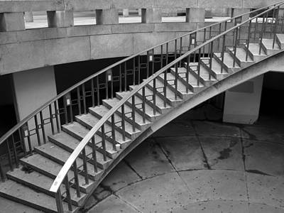 Art Print featuring the photograph Curly Stairway by Dorin Adrian Berbier