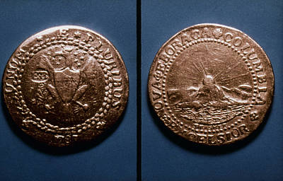 Doubloon Photograph - Currency: U.s. Coin, 1787 by Granger