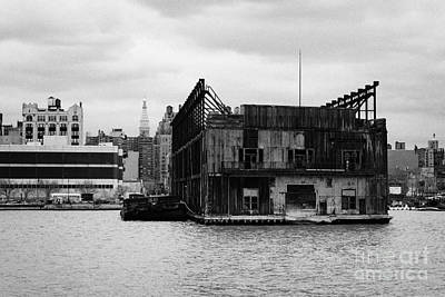 Currently Condemned Pier 64 On The Hudson River New York City Art Print by Joe Fox
