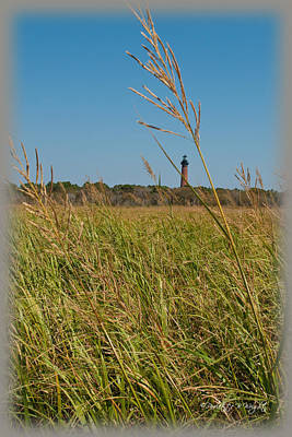 Photograph - Currituck Lighthouse Through The Marsh Grass by Paulette B Wright