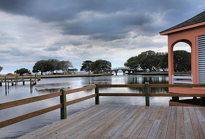 Currituck Photograph - Currituck Sound Boardwalk II by Steven Ainsworth