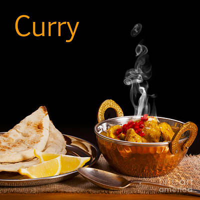 Curry Concept Art Print by Colin and Linda McKie