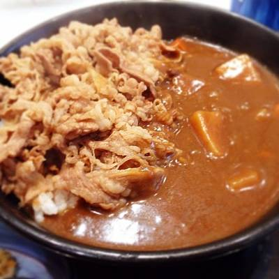 Tasty Wall Art - Photograph - #curry #gyudon  #lunch  #food by Takeshi O