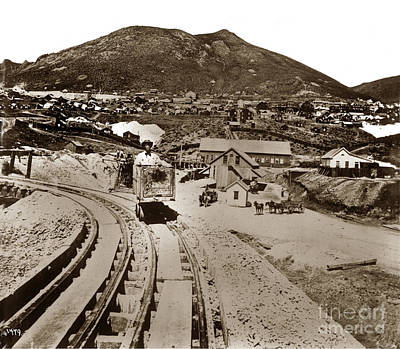 Photograph - Curry Mine.virginia City Nevada.1865 by California Views Mr Pat Hathaway Archives