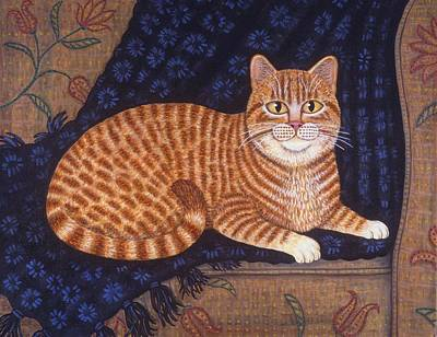 Curry The Cat Art Print by Linda Mears
